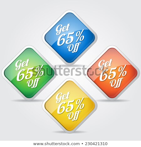 Get 65 Precent Off Yellow Vector Icon Stock photo © rizwanali3d