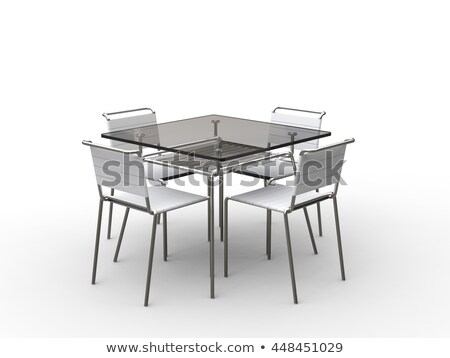stylish green cafeteria chair isolated stock photo © shutswis