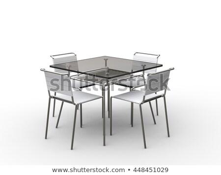 Elegáns zöld büfé szék izolált étel Stock fotó © shutswis