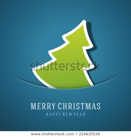 Green christmas background with snow flakes. Raster Version Stock photo © Valeriy