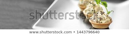 parçalar · baharatlı · salam · mavi · gurme - stok fotoğraf © Digifoodstock