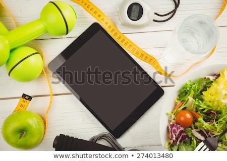ordinateur · vert · bande · affaires · livre · hôtel - photo stock © wavebreak_media