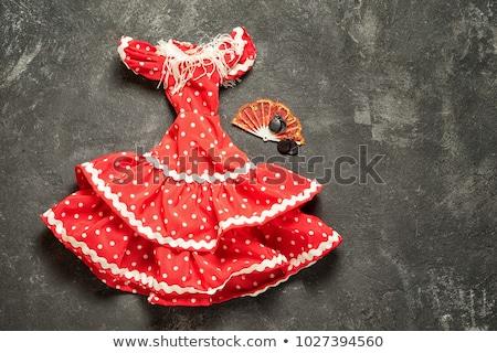Flamenco ruhák piac tánc divat ruházat Stock fotó © Digifoodstock
