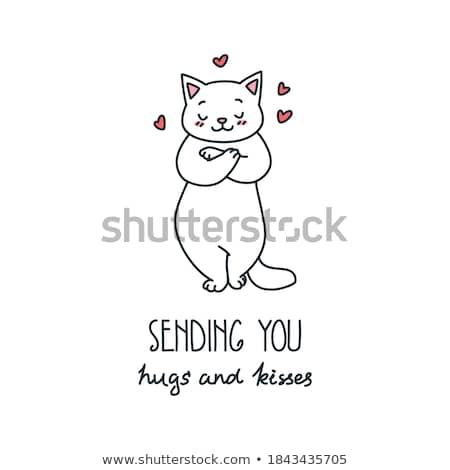 I love you valentine card template. EPS 8 stock photo © beholdereye
