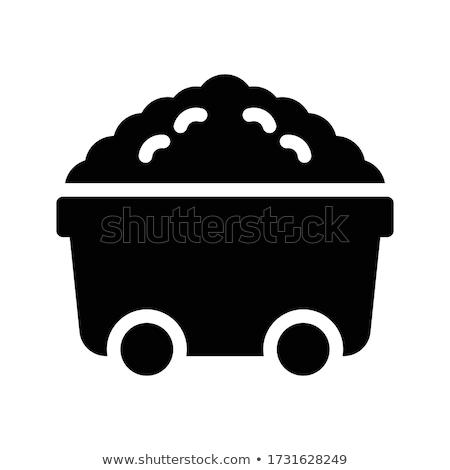 Mina completo carvão linha ícone teia Foto stock © RAStudio