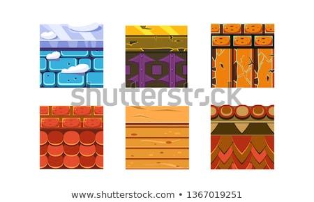 Vágány játék csempe szett réteges vektor Stock fotó © papaeiwi