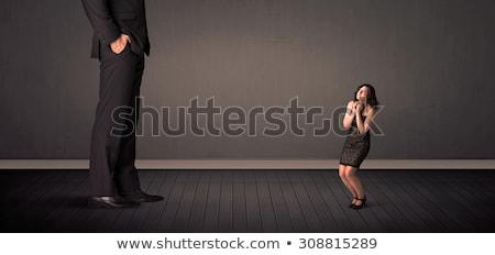 Pequeno gigante patrão pernas negócio trabalhar Foto stock © ra2studio