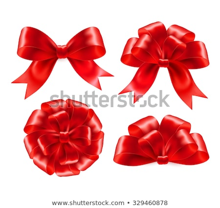 set of gift bows with ribbons eps 10 stock photo © beholdereye