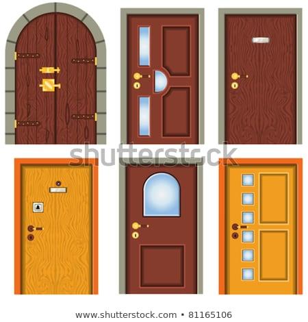 öreg ajtó vasaló kettő napfény ajtók Stock fotó © bezikus