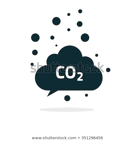 co2 emissions icon cloud vector flat, carbon dioxide emits symbol Stock photo © Fosin