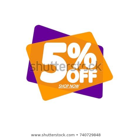 5% Off Stock photo © idesign