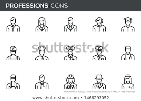 Set of 24 Police Icons Stock photo © angelp