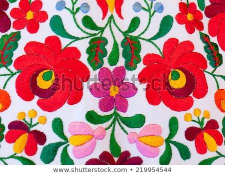 Węgierski jasne kolory kolor biały tkaniny Zdjęcia stock © digoarpi