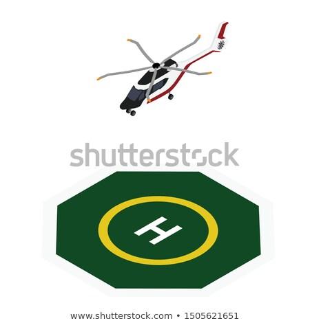 Lądowanie ilustracja zielone niebieski graficzne cień Zdjęcia stock © bluering