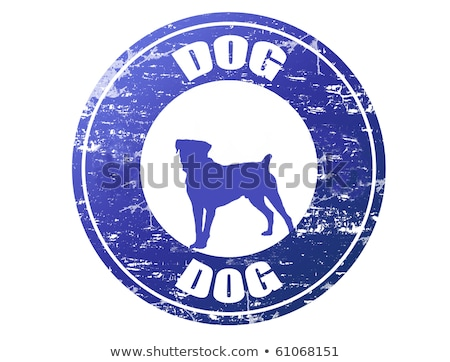 chinese zodiac postage stamp year of the dog stock photo © myfh88