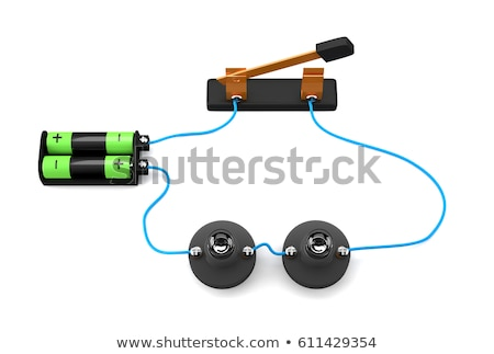 Lamp in a circuit on a white background. 3D image stock photo © ISerg