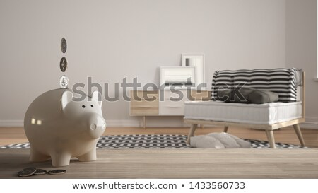 Budget on wooden table Stock photo © fuzzbones0