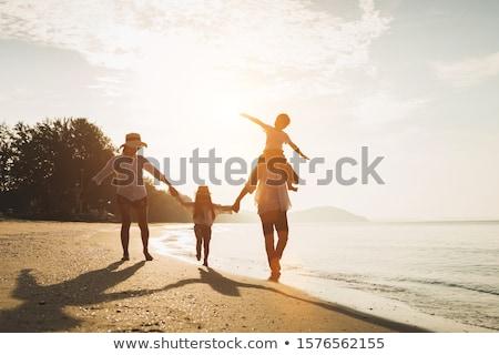 Foto stock: Infância · férias · de · verão · sorrir · cara · homem