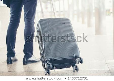 Man Dragging White Board Stock photo © lenm
