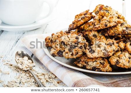 szezám · mazsola · sütik · sütőtök · magok · pergamen - stock fotó © digifoodstock