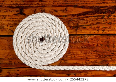 Maritime theme background of wound up rope Stock photo © ozgur