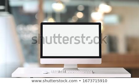 Moderno computer tipico sottile home office ufficio Foto d'archivio © Bigalbaloo