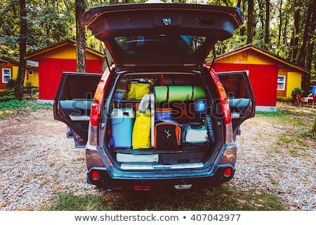 Dzsip autó út tájkép háttér művészet Stock fotó © bluering