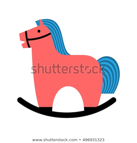 Rocking horse. Childrens toy horse apples. hoss for kids Stock photo © MaryValery