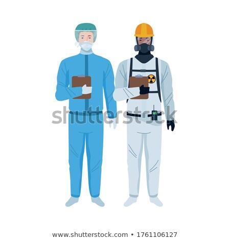 男 放射線 スーツ アジア マスク 頭 ストックフォト © RAStudio