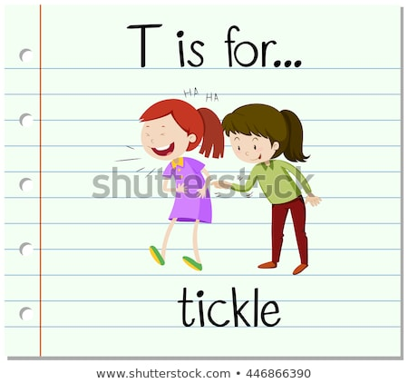 Flashcard letter T is for tickle Stock photo © bluering
