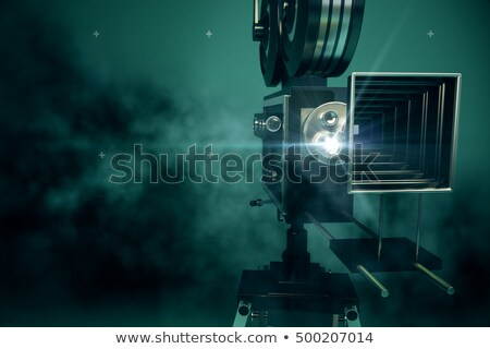 Vintage movie camera front stock photo © berczy04