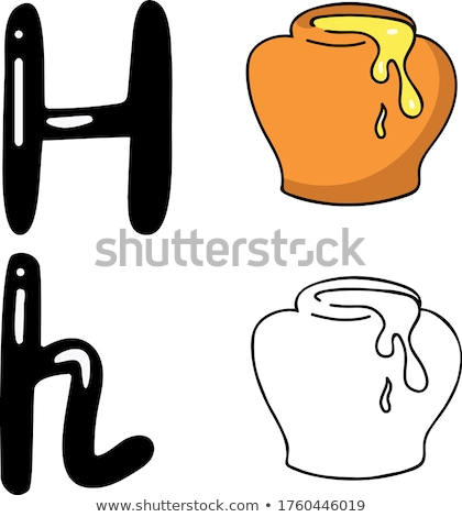 Flashcard letter H is for honey Stock photo © bluering