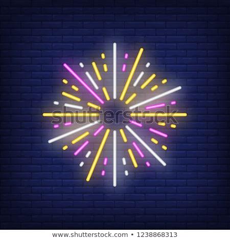 Noel neon simgeler büyü ayarlamak hızlı Stok fotoğraf © Voysla