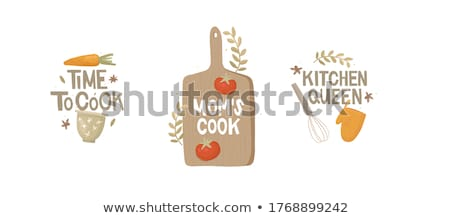 Utensils with cooks hands Stock photo © kali