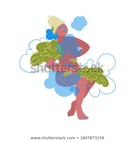 Kız buhar banyo örnek kadın dinlenmek Stok fotoğraf © adrenalina