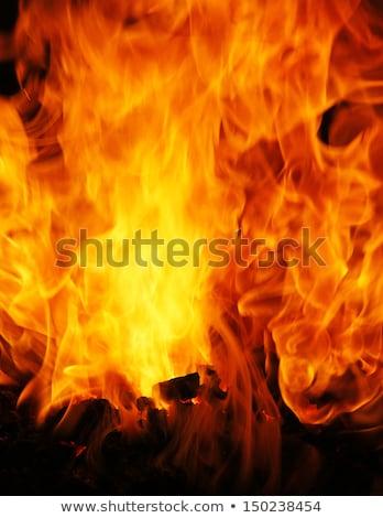 Közelkép tűz lángok kémény égő gyertya Stock fotó © kb-photodesign