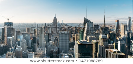 Spectaculaire Skyline vue New York coucher du soleil lumière Photo stock © meinzahn