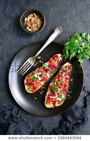 baked aubergine with vegetable Stock photo © M-studio