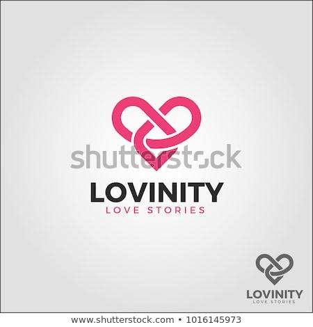 düğüm · kalp · şekli · vektör · ikon · logo · logo · tasarımı - stok fotoğraf © sdcrea