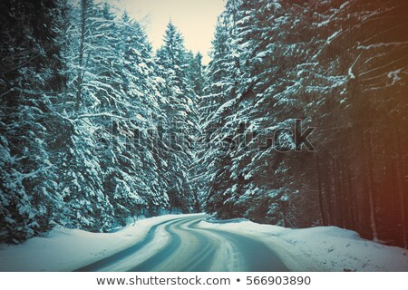 Stock photo: View at winter mountains Tatry, Poland