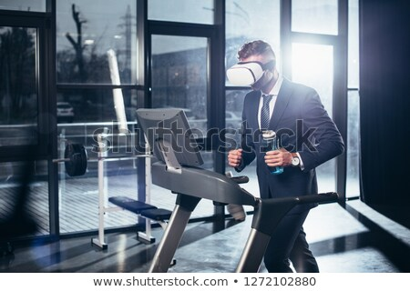 3D бизнесмен фляга иллюстрация изолированный Сток-фото © 3dmask