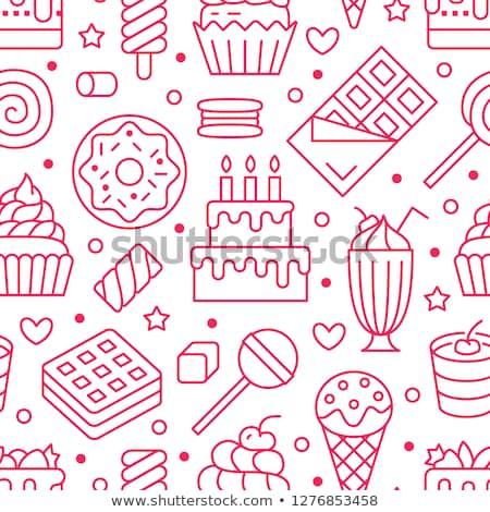 Coloré lollipop guimauve vecteur Photo stock © maia3000