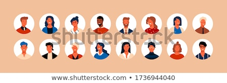 Flat Cartoon Round Avatars Big Collection Stock photo © Voysla