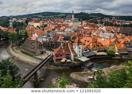 overlooking the historic town of cesky krumlov czech republic stock photo © kirill_m