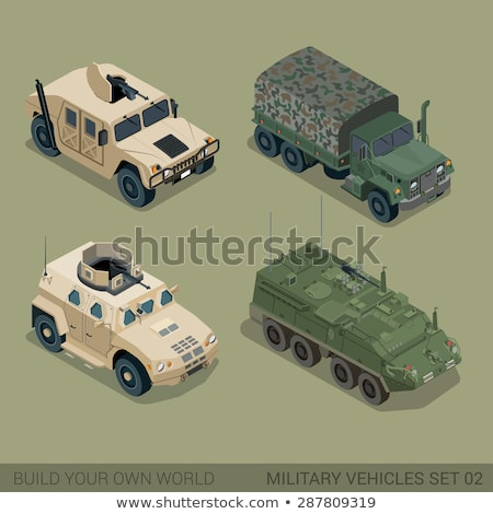 Armored Personnel Carrier Vector Illustration Stock photo © robuart