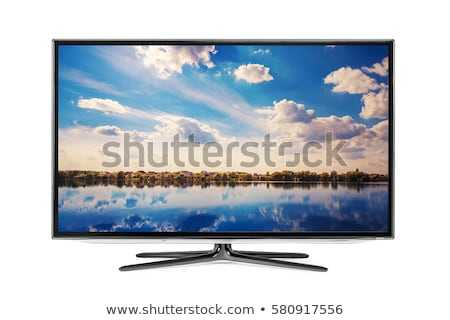 Led TV Plasma Computer Screen Isolated on White. Stock photo © robuart