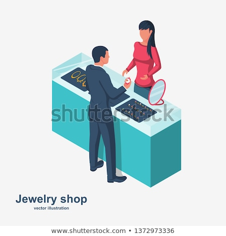 Jewelry Store Showcase Vector Web Banner  Stock photo © robuart