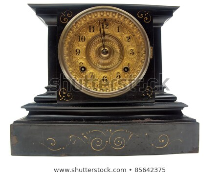 mantle clock isolated Stock photo © dcwcreations