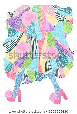 Vector dibujado a mano arte pop ilustración elegante mujer Foto stock © curiosity