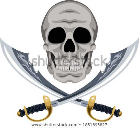 crossed cutlass pirate sword stock photo © ayaxmr